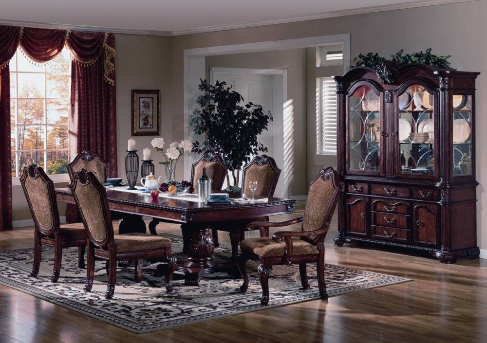 Elegant formal dining room furniture welmax furniture for Cherry formal dining room sets