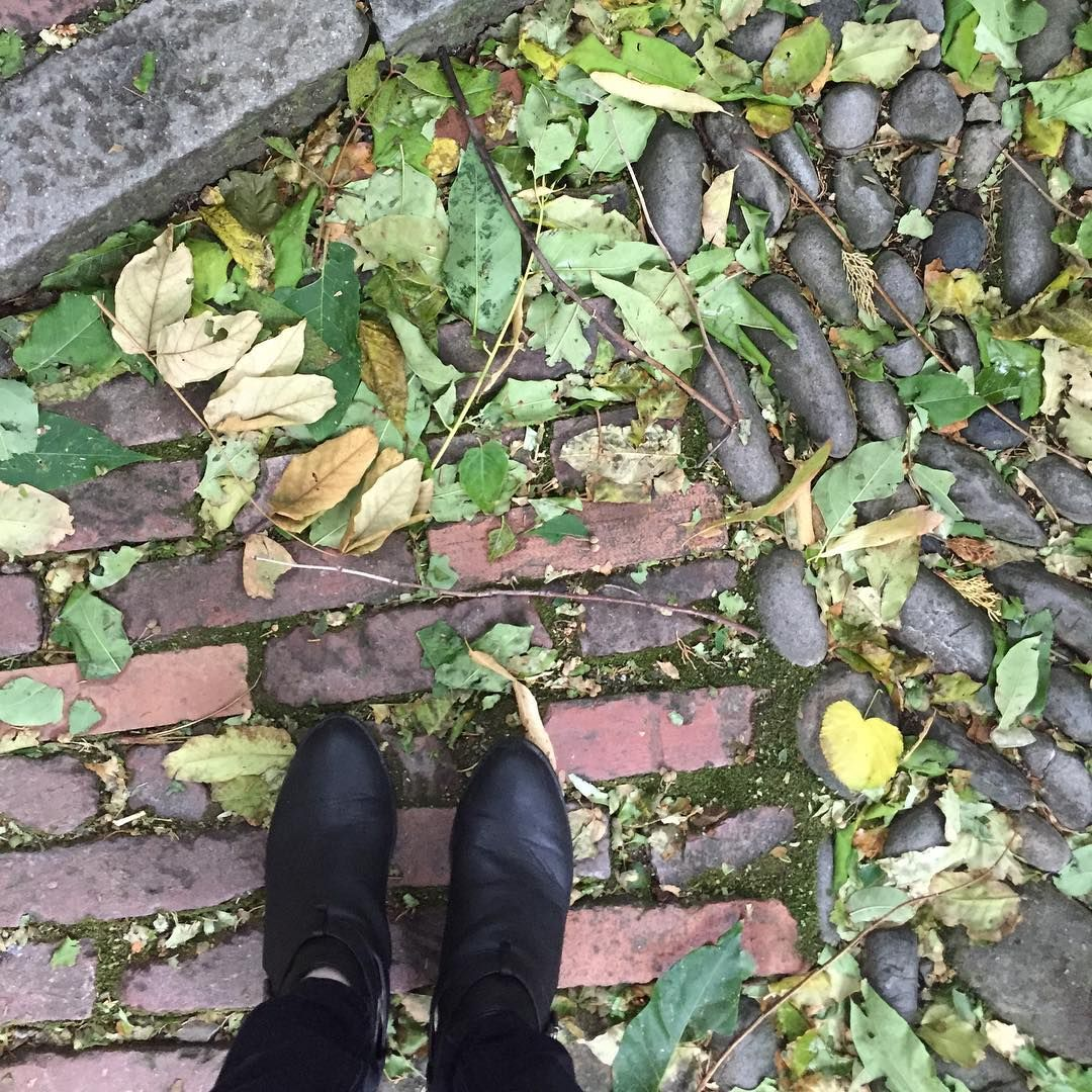 @themerrymoore Climbing the endless steps to the chapel.  #TheMerryMoore #CinqueTerre #StepClimbing #RainyDay #FallenLeaves