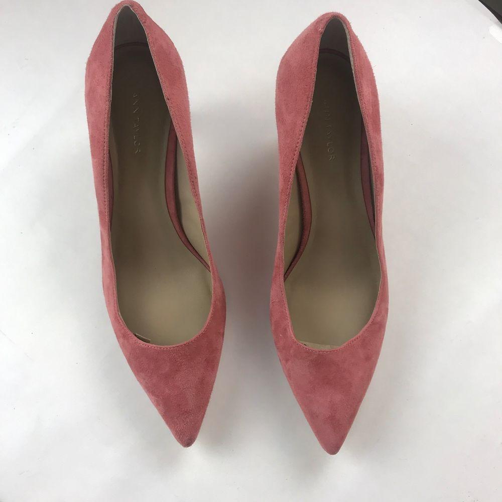 b08b42e342f Ann Taylor Eryn Suede Kitten Heels Sze 8 in Coral Pink  fashion  clothing   shoes  accessories  womensshoes  heels (ebay link)