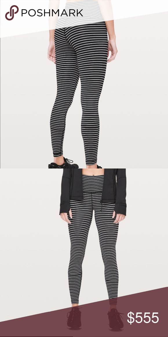 aa13a21308 I'm looking for a pair of the Wunder under parallel stripe black white in a  size 4. NWT or EUC please! lululemon athletica Pants Leggings
