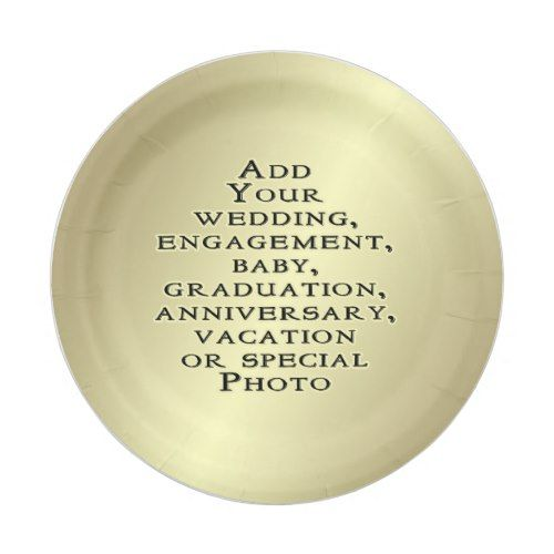 sc 1 st  Pinterest & Design Create Your Own Add Photo DIY Personalized Paper Plate