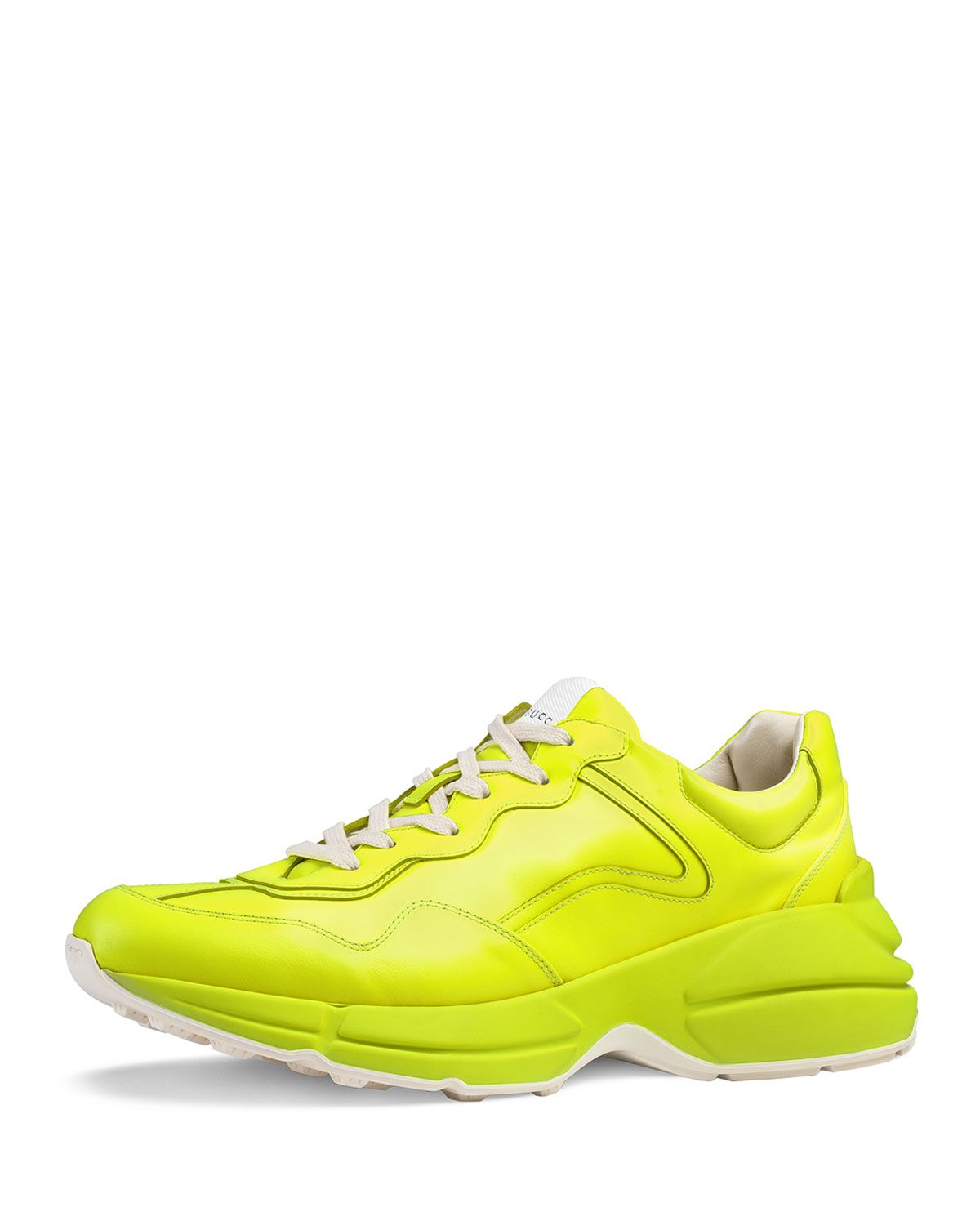 fed90c625 GUCCI MEN'S RHYTON FLUORESCENT LEATHER SNEAKERS. #gucci #shoes ...