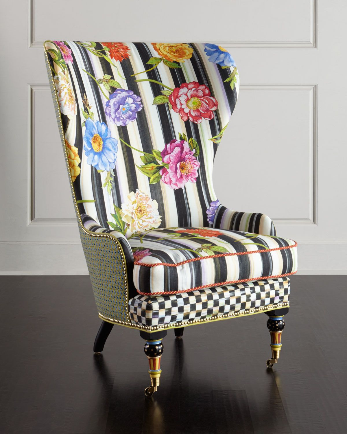 Cutting garden high back wing chair in 2018 living room - High back wing chairs for living room ...