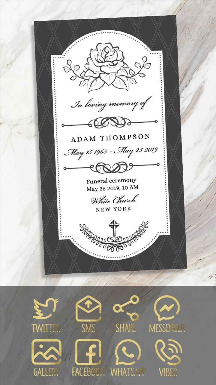 Tarjetas De Invitación De Misa Para Difuntos For Android In 2020 Invitation Card Maker Invitations Invitation Cards