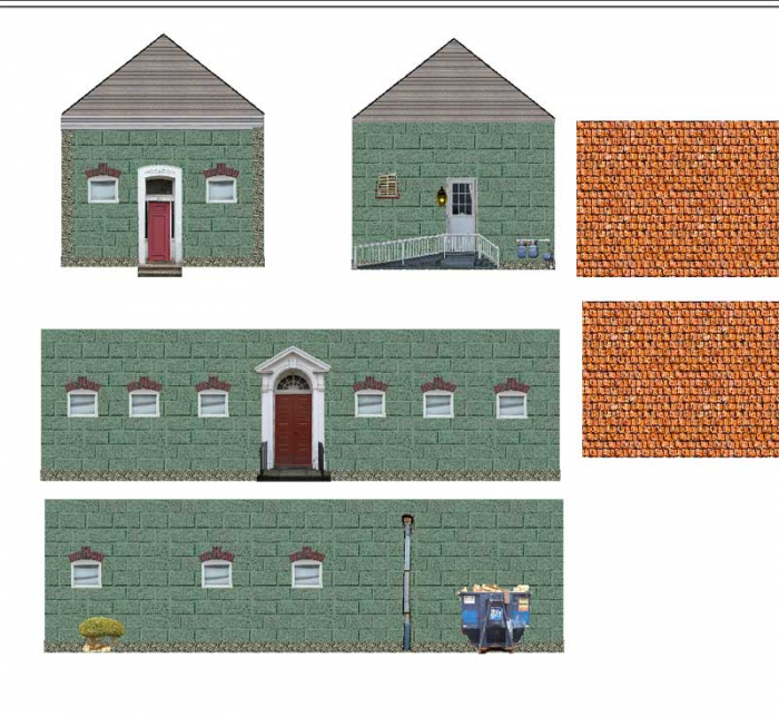 Peaceful image within free printable model railway buildings