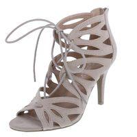 e9cabe66da Women's Mania Ghillie Heel, Nude Suede | My Highheels | Shoes, Heels ...