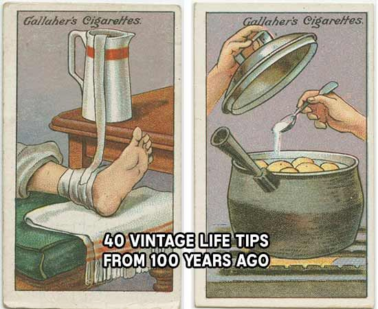 40 Vintage Life Tips From 100 Years Ago