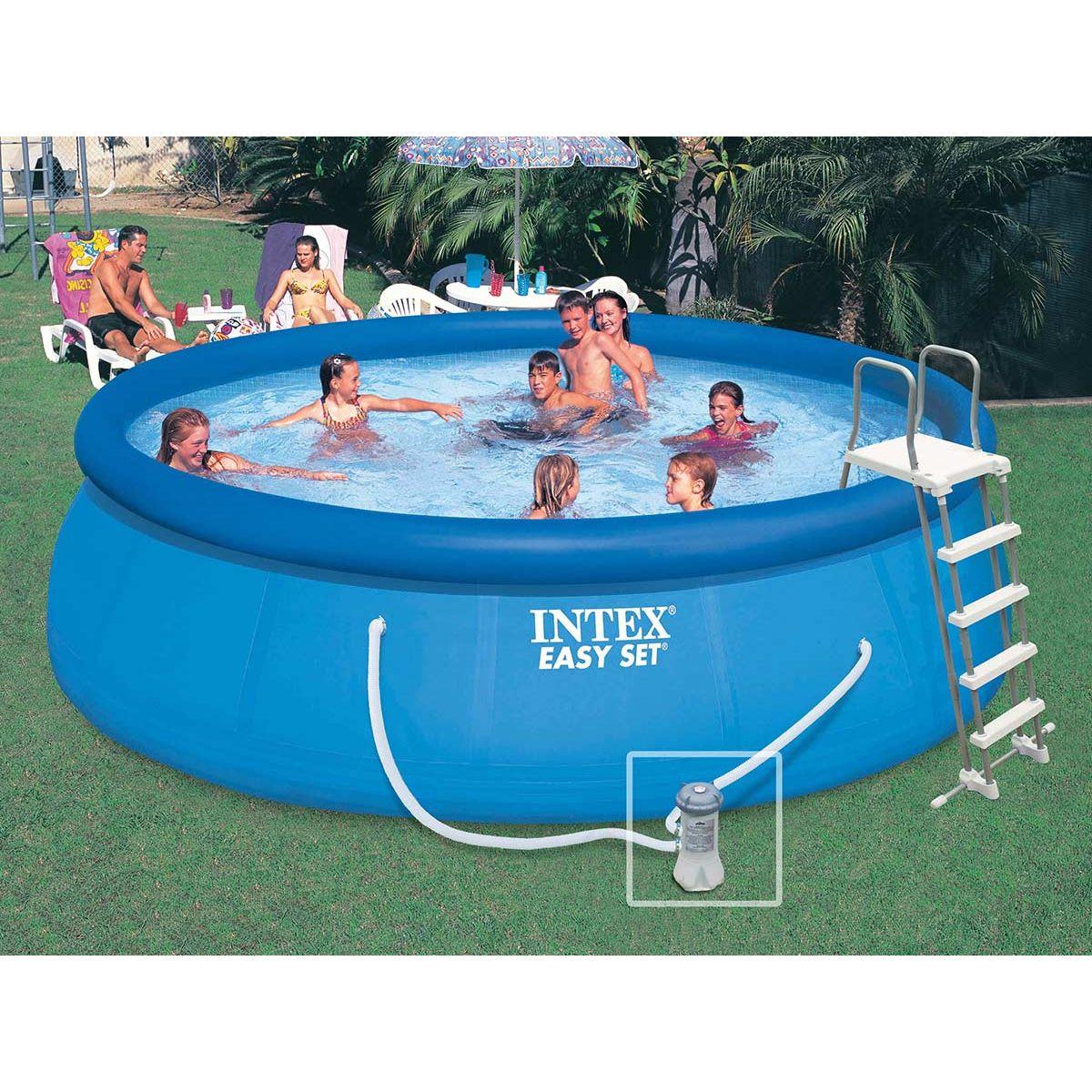 Piscine Autoportee Easy Set 4 57 X 1 22 M Intex Easy Set Pools