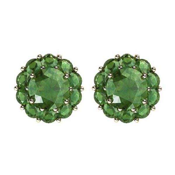 Color My Life Simulated Emerald Stud Earrings 875 Liked On Polyvore Featuring Jewelry