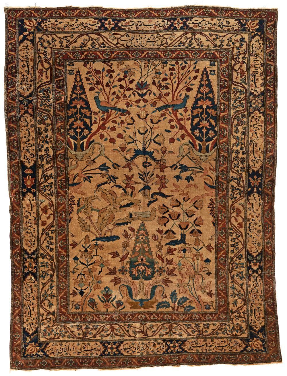 Kashan Mohtashem Antique Oriental Rugs Persia Antiques