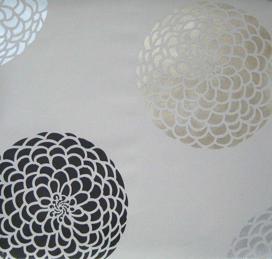 Flower Stencil Zinnia Grande XSM  Lovely by CuttingEdgeStencils, $13.95