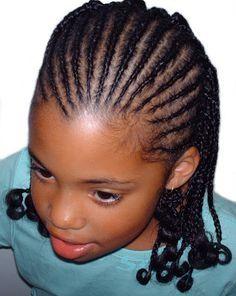 Tresses africaines pour enfants   Tresses africaines, Coiffures africaines tresses, Modele de ...
