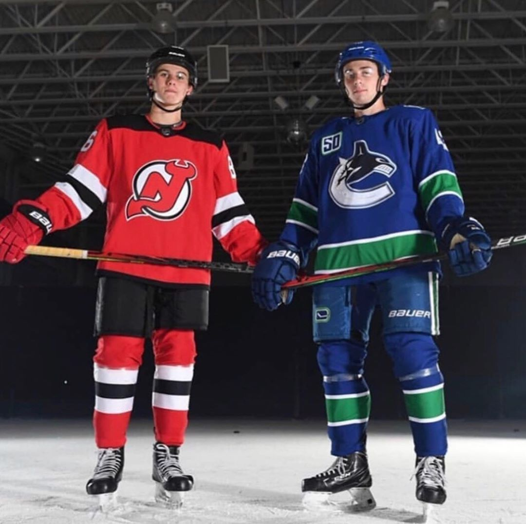 Jack Quinn Hughes In 2020 Hockey Girlfriend Vancouver Canucks Logo Usa Hockey