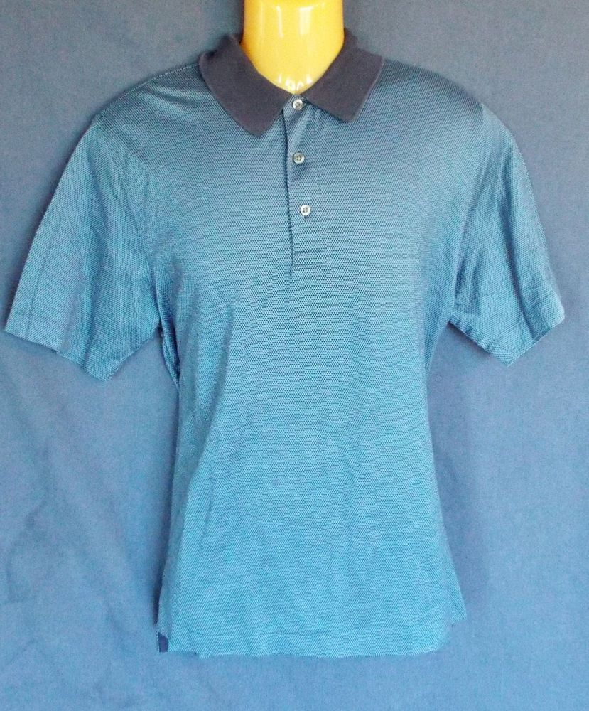 BROOKS BROTHERS 346 Mens Button Front Polo Shirt Size M Medium EUC