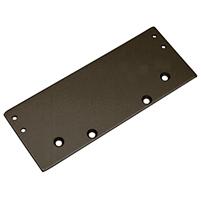 Dark Bronze Wide Drop Plate For Dc52 And Dc53 Surface Mounted Door Closers Door Closers Closer Doors