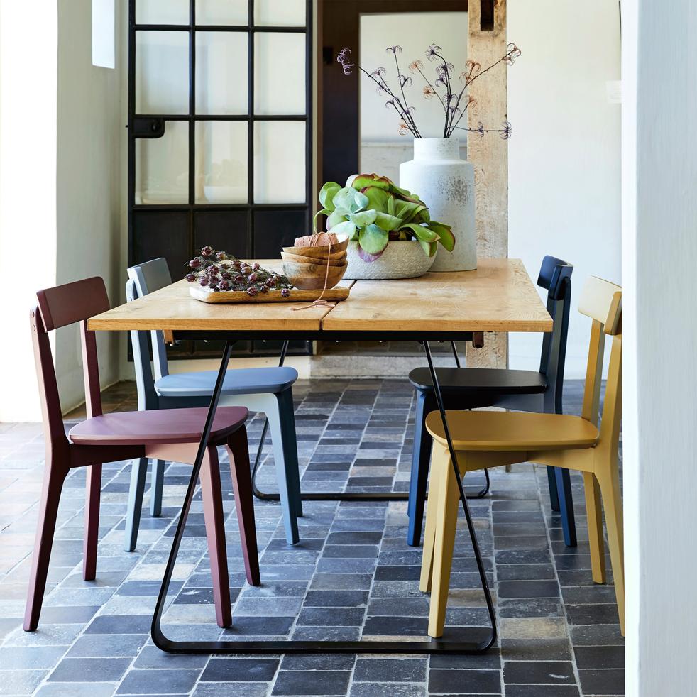 Chaise en bois gris restanque suzie catalogue Catalogue cuisine alinea