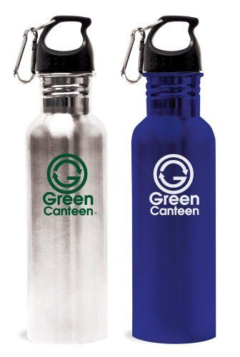 44f7eb55a4 Green Canteen Stainless Steel 25-Ounce Sports and Hydration Water Bottle,  Silver and Blue, 2-Pack by Green Canteen. $12.83. Production of stainless  steel is ...