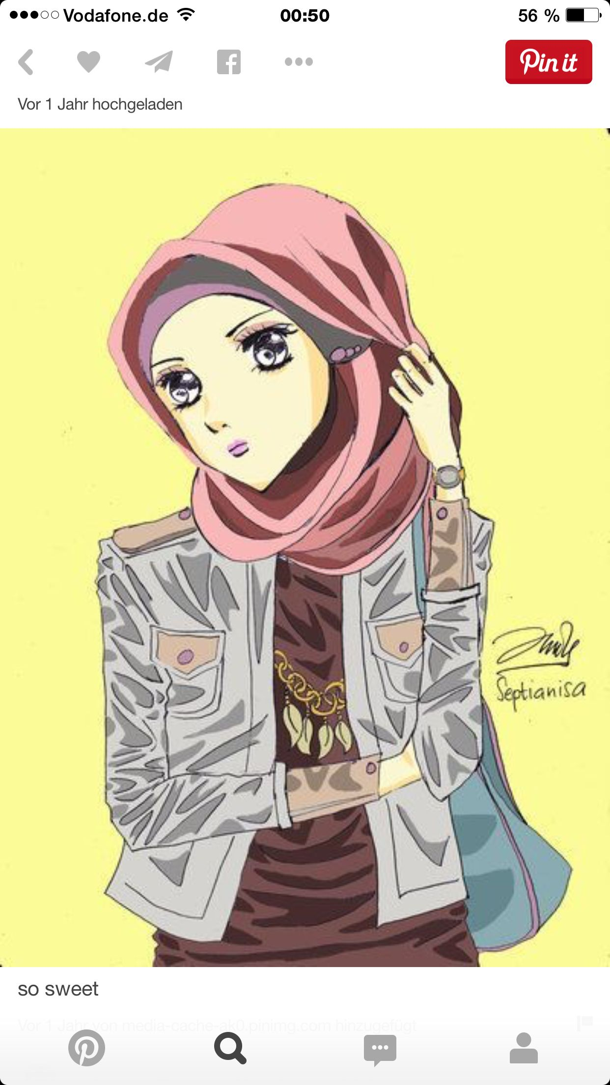 Pin By Kamara On Cute Hijabis Pinterest Cartoon And Muslim