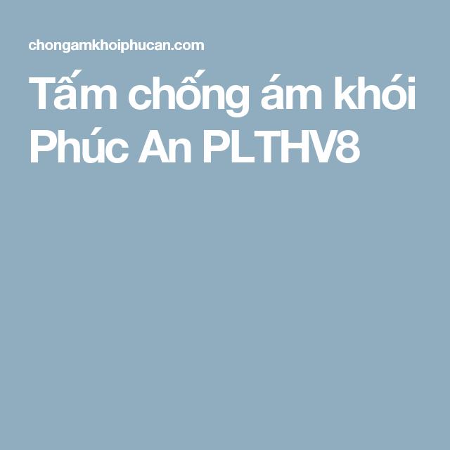 Tấm chống ám khói Phúc An PLTHV8