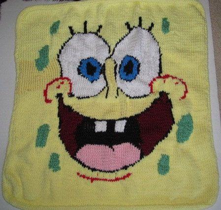 Spongebob Baby Blanket Pattern by Knittnpretty on Etsy, $3.99 ...