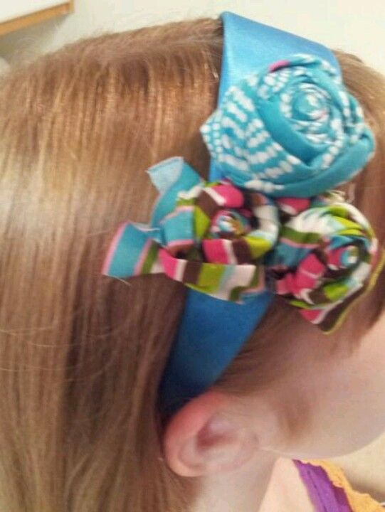 Fabric roset headband