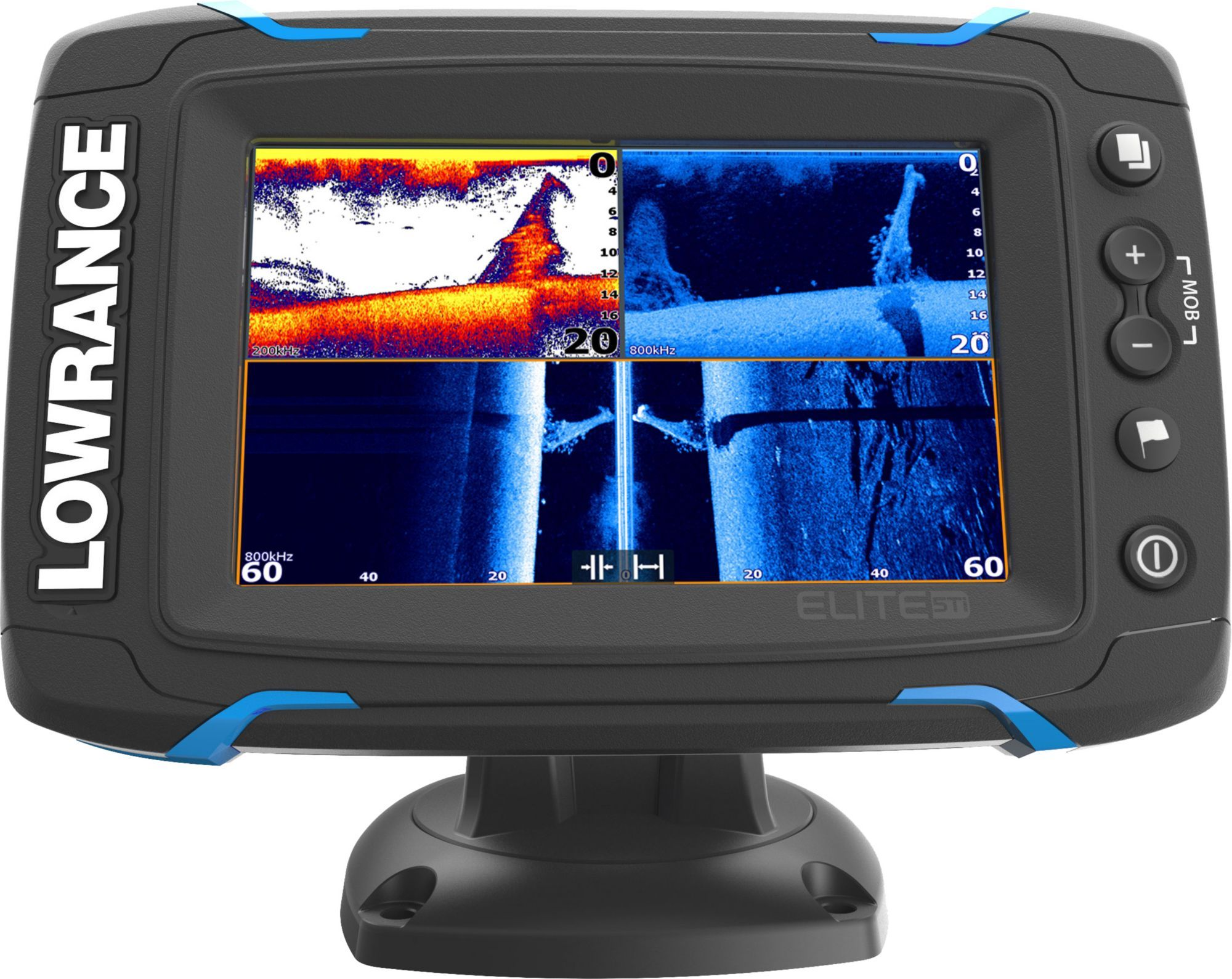 Lowrance Elite 5 Ti Gps Fish Finder With Mid High Totalscan 000 12423 001 Fish Finder Electronics Display
