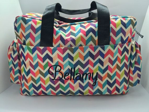 Chevron Diaper Bag Bright Color Monogram Baby By Customthreads