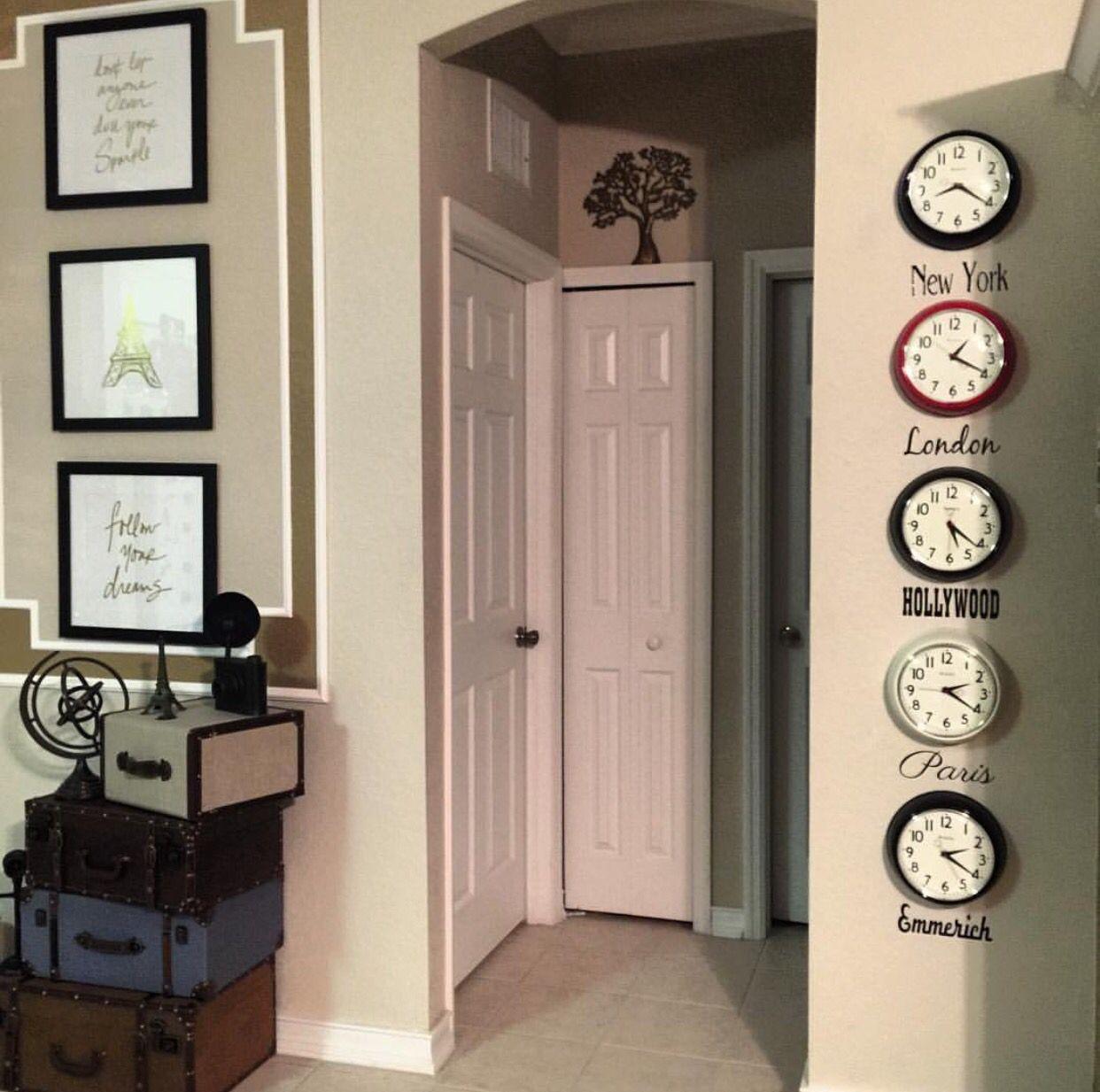 time zone clock wall barretts kimbers and home