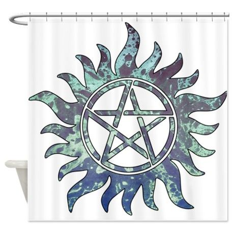 Supernatural Symbol Shower Curtain By Awesomesauce Supernatural