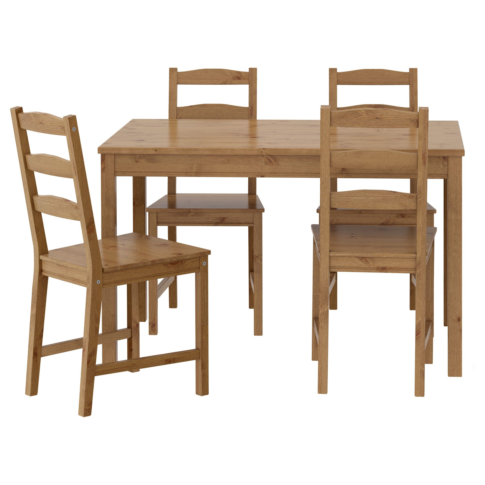 Eettafel En Stoelen Ikea.Tafel En 4 Stoelen Jokkmokk Antiekbeits Woonkamer Stoel Ikea