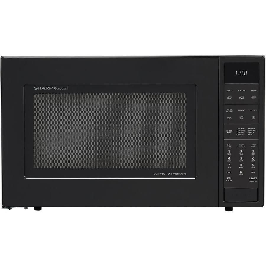 Sharp 1 5 Cu Ft 900 Watt Countertop Convection Microwave Black Lowes Com Microwave Convection Oven Countertop Microwave Sharp Convection Microwave