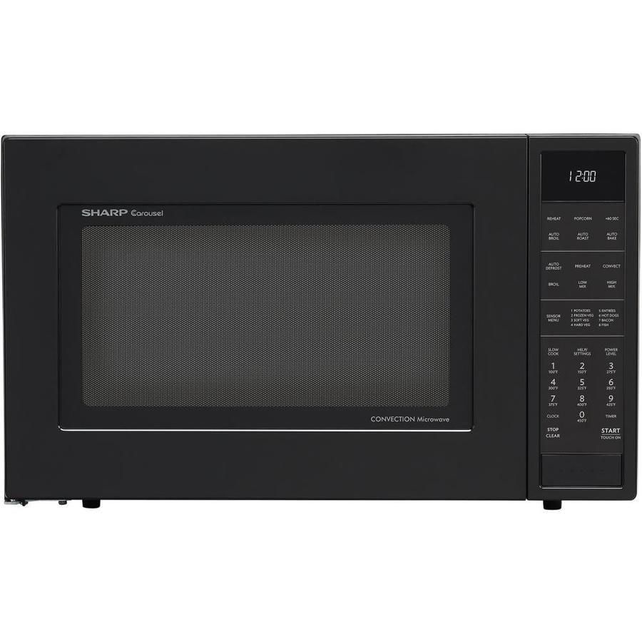 Sharp 1 5 Cu Ft 900 Watt Countertop Convection Microwave Black Lowes Com Microwave Convection Oven Countertop Microwave Sharp Convection Microwave