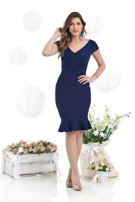 54e1815f3 BH5543 - VESTIDO TUBINHO DETALHE SEREIA | Ropa | Fashion outfits ...