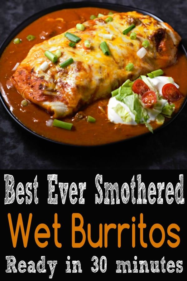 Photo of Best Ever Smothered Wet Burritos
