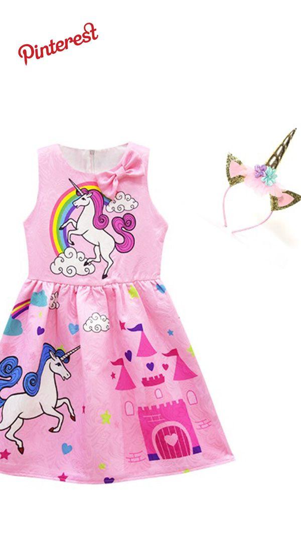Chicas Del Bebé Vestir Traje Unicornio Para Los Niños De Los
