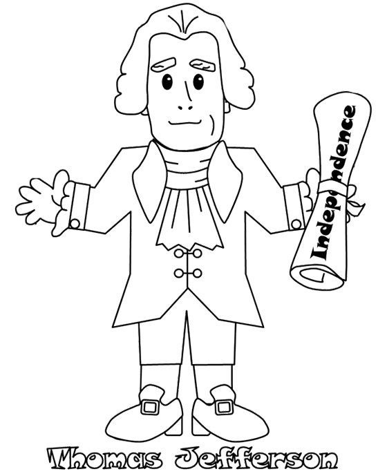 Thomas Jefferson Coloring Sheets
