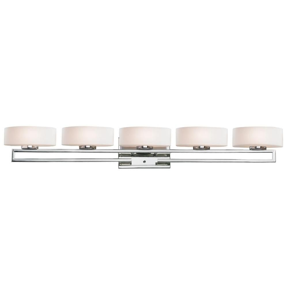 Filament Design Antonia Light Chrome Halogen Bath Vanity Light - Halogen bathroom vanity lights