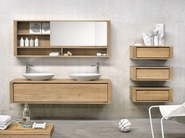 Badezimmer Design Ideen offenen Regal unterhalb der Arbeitsplatte - die schönsten badezimmer