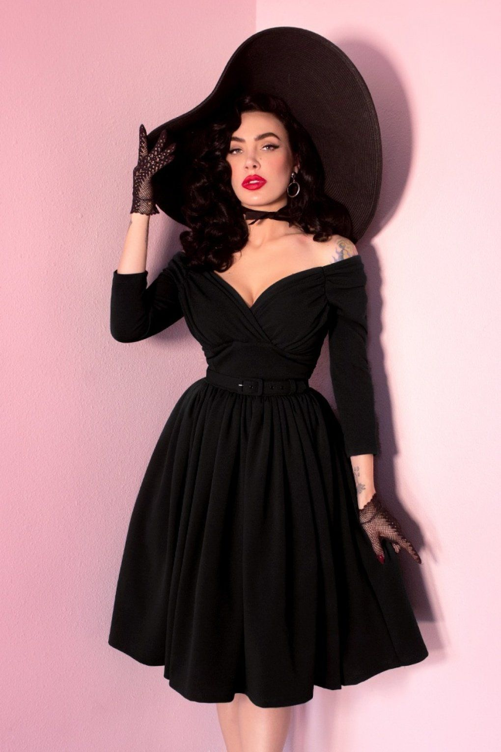 50s Starlet Swing Dress In Black Old Fashion Dresses Fashion Vintage Outfits [ 1530 x 1020 Pixel ]