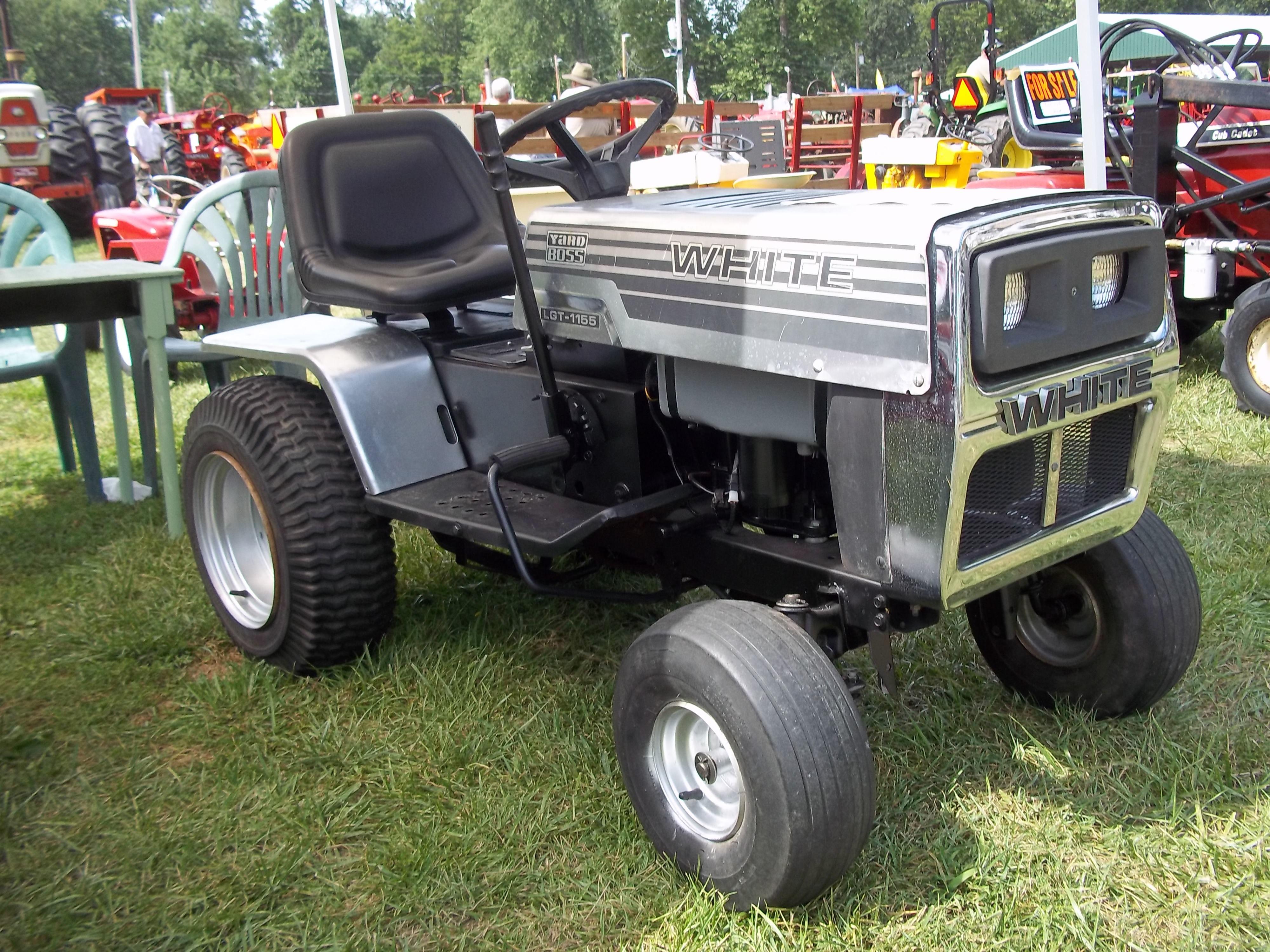 Rare White Garden Tractor White Tractor Garden Tractor Tractors