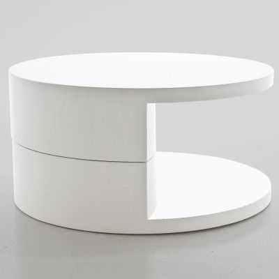 The Actona Push Round Coffee Table Is A Contemporary Coffee Table