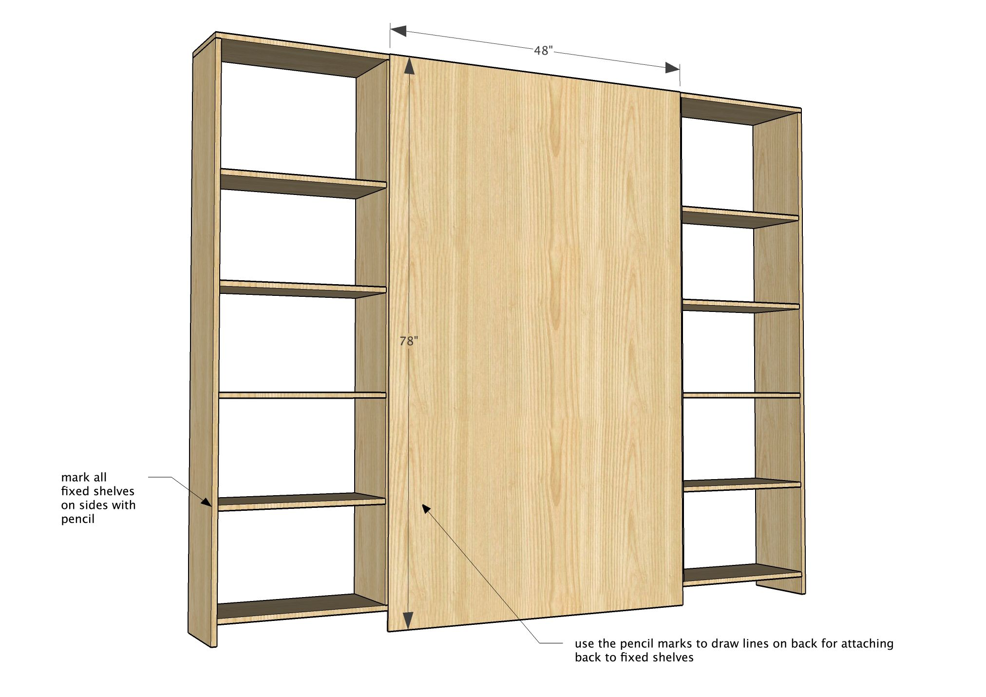 Ana White | Build a Sliding Barn Door Media Wall Suite | Free and ...