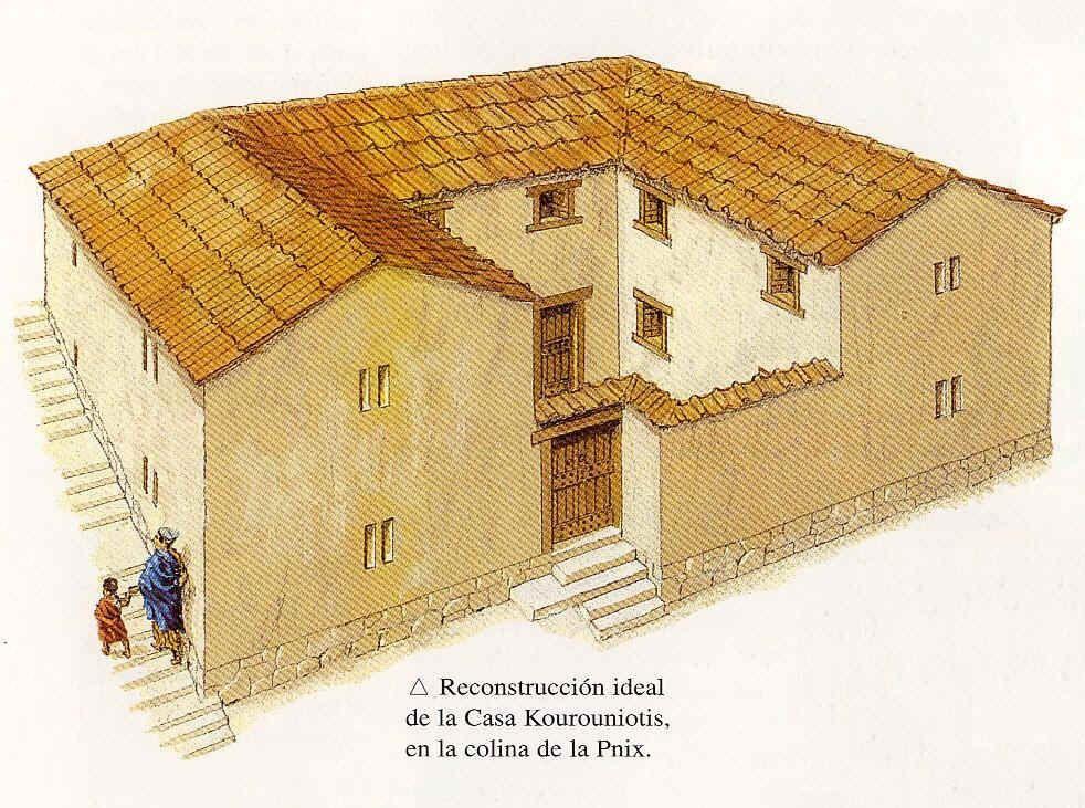 Vida cotidiana grecia 5 grecia y roma pinterest Como eran las casas griegas