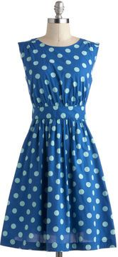Emily and Fin Too Much Fun Dress in Blue Dots $79.99