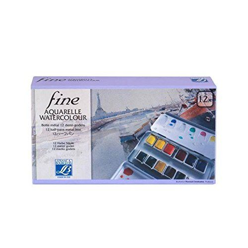 Sennelier L Aquarelle French Artists Watercolor Metal Box Of 48