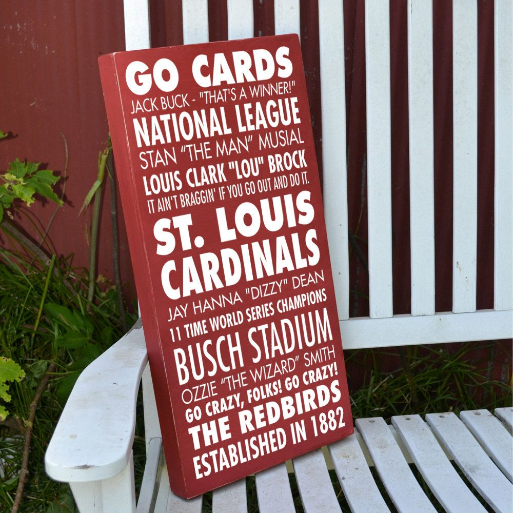 Attractive St. Louis Cardinals Go Cards Subway Art Painted Wood Sign. $45.00, Via Etsy
