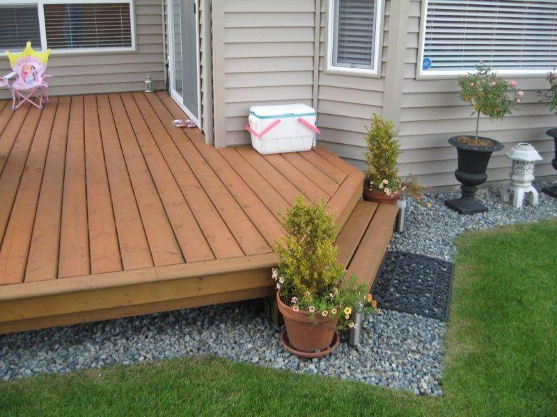 A Simple Deck Ground Level Deck Patio Design Deck Design