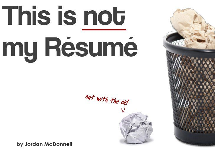 A fun, creative alternative to a traditional resume This is NOT my - resume review service