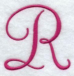 Fancy Flourish Capital Letter R - 3 Inch design (F8146 ...