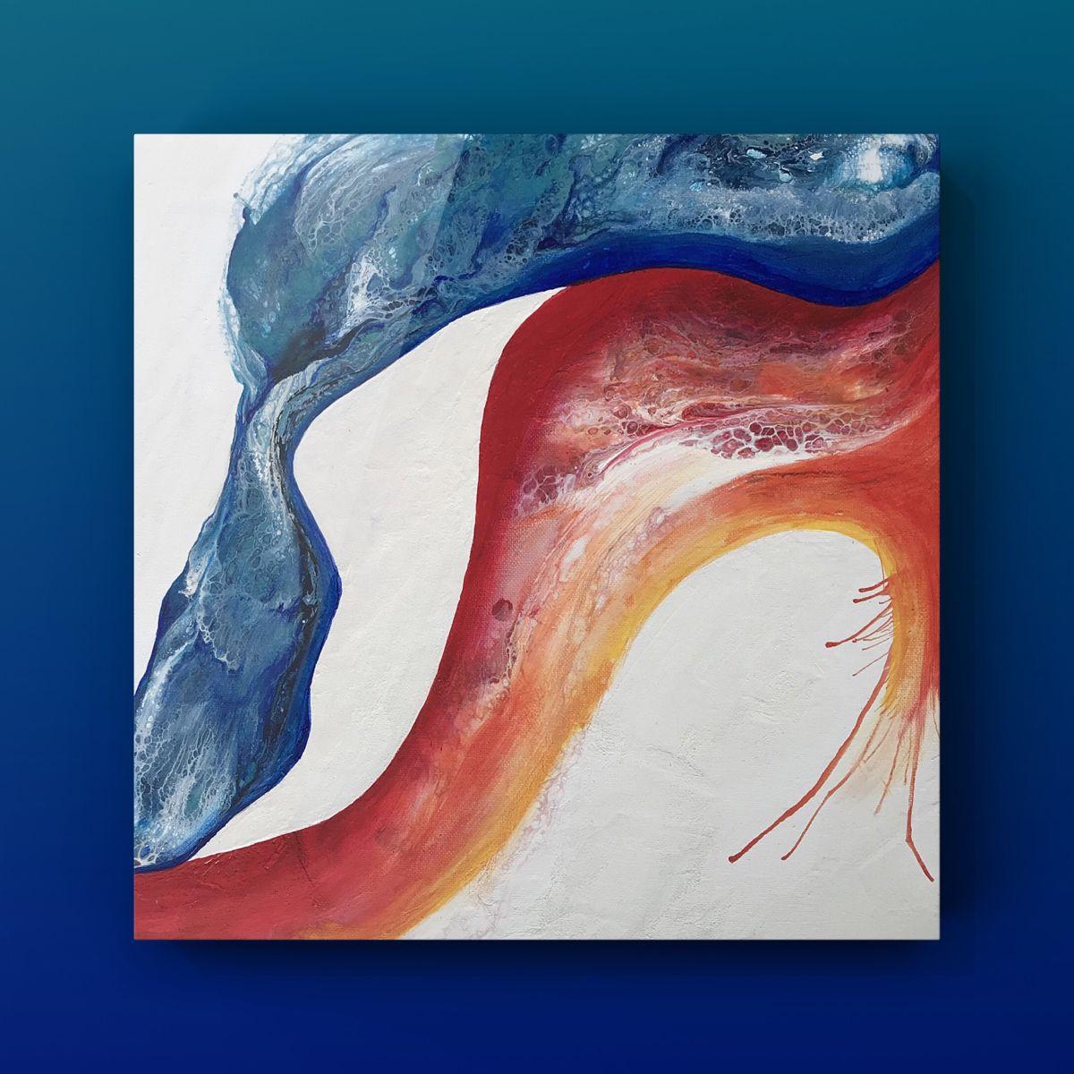 Sedona 14 x 14 Fluid Acrylic Painting on Canvas